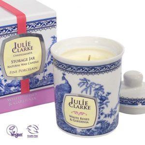 White Roses & Gardenia Candle