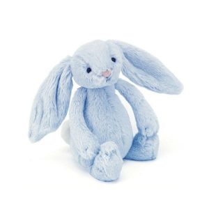 Jellycat Bashful Blue Rattle Bunny