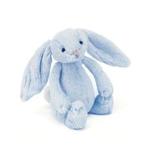 Jellycat Bashful Blue Rattle Bunny