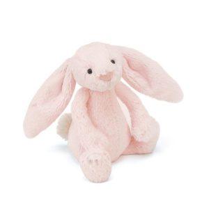 Jellycat Bashful Pink Rattle Bunny