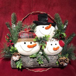 Snow Family Wreath