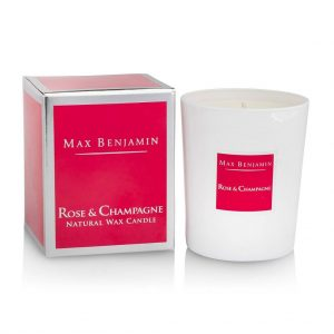 Max Benjamin Rose & Champagne Luxury Natural Candle