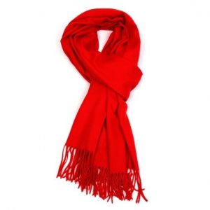 Ladies Plain Scarf - Coral