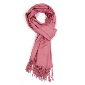 Ladies Plain Scarf - Dusky Pink