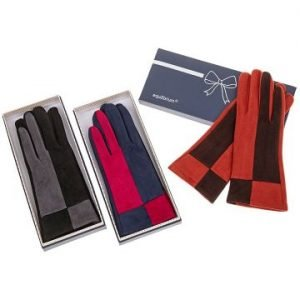 Two Tone Suede Gloves