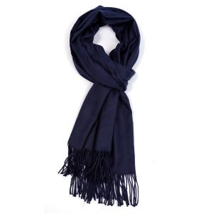 Ladies Plain Scarf - Navy