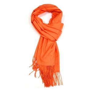 Ladies Plain Scarf - Orange
