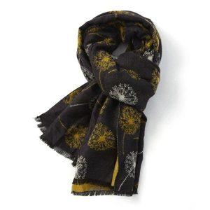 Fashion Scarf - Black/Mustard