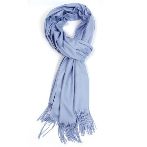 Ladies Plain Scarf - Sky Blue