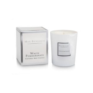 Max Benjamin White Pomegrante Luxury Natural Candle
