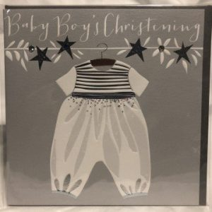 Baby Boy Christening Card