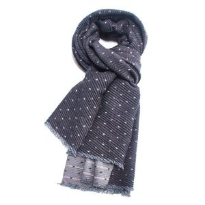 Pleated Fashion Scarf - Dots