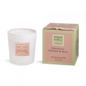 Brooke & Shoals Elderflower, Rhubarb & Rose Candle