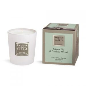 Brooke & Shoals Green Fig & Vetiver Wood Candle