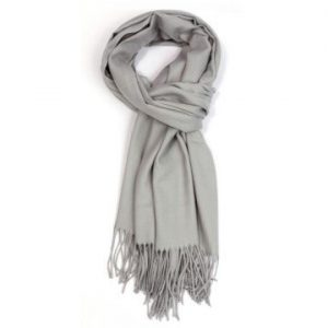 Ladies Plain Scarf - Silver