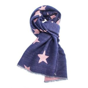Pleated Fashion Scarf - Stars