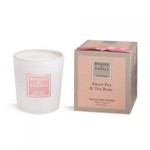 Brooke & Shoals Sweet Pea & Tea Rose Candle