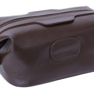 Mens Leather Wash Bag