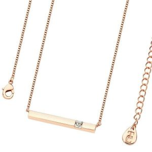 April- Rose Gold Bar Birthstone Pendant