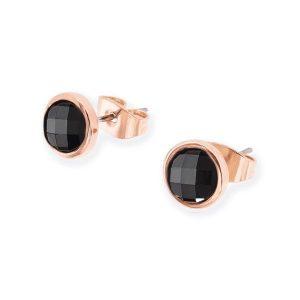 Noir Bezel Cut Stone Earrings
