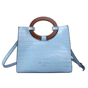 Blue Croc Effect Tote Bag