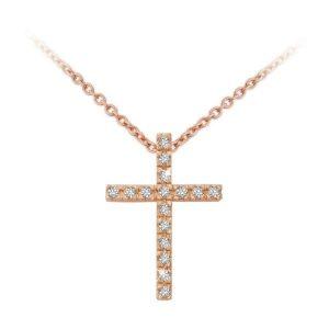 Rose Gold Cross Pendant