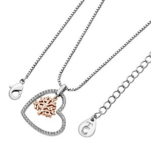 Heart Pendant with Floating Tree of Life