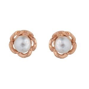 Rose Gold Earring with Stone