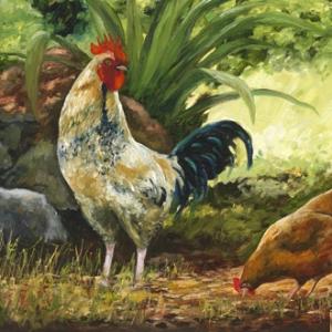 John Galvin Art - Cockerel and Hen