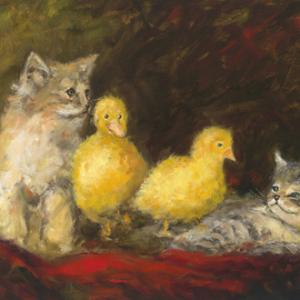 John Galvin Art - Fur Ever Friends