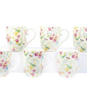 6 Piece Mug Set - Bird & Blossom
