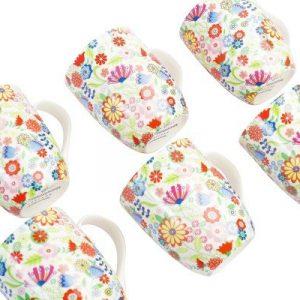 6 Piece Mug Set - Ditsy Flowery