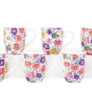 6 Piece Mug Set - Retro