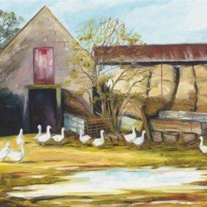 John Galvin Art - Farmyard at Lynally