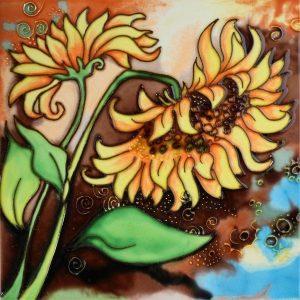 Ceramic Wall Art - Sunflower