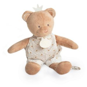 Doudou Beige & White Teddy Bear